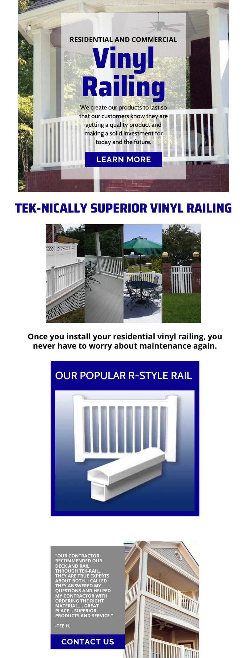 Residential and Commercial Vinyl Railing 1