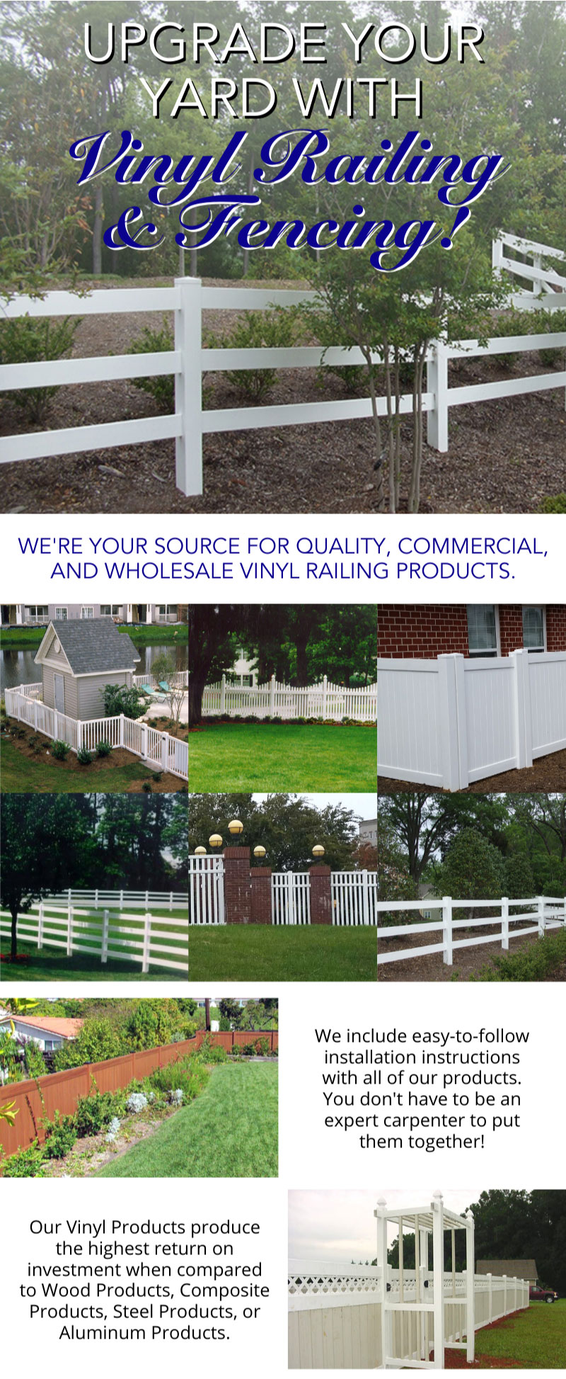 Upgrade Your Yard With Our Vinyl Fencing! 1